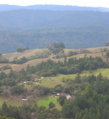 view of farm from ridge